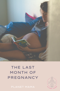 the last month of pregnancy blog post a pregnant lady reading a book